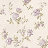 Albany Satin Charm Purple / Green Wallpaper