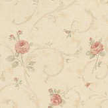 Albany Satin Charm Beige / Green / Pink Wallpaper