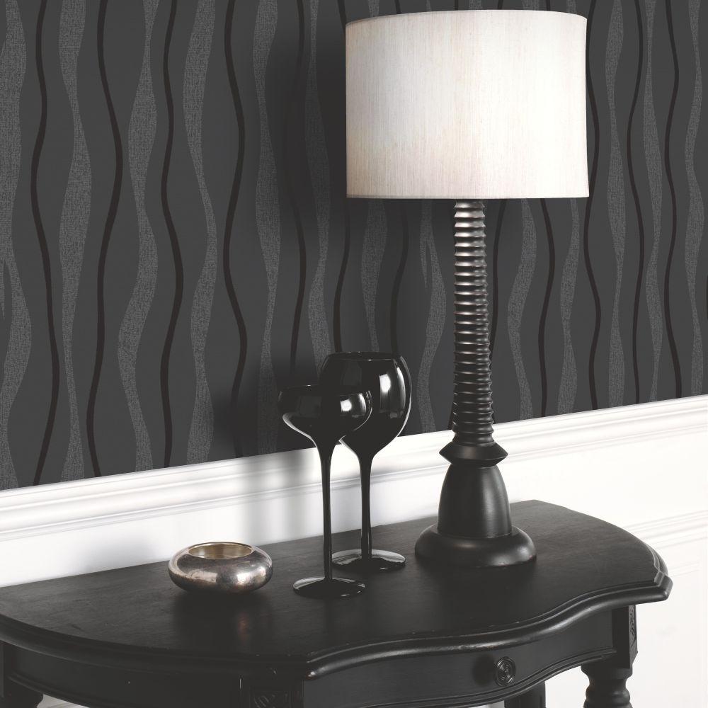 Arthouse Glitz Black Wallpaper - Product code: 887000