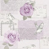 Arthouse Bella Lilac Wallpaper