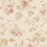 Albany Satin Charm Pale Red / Green Wallpaper