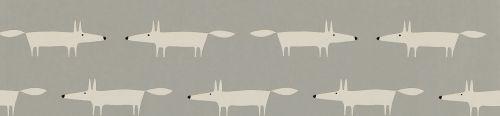 Scion Little Fox Silver  Wallpaper - Product code: 110838