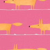 Scion Mr Fox Fuschia Wallpaper