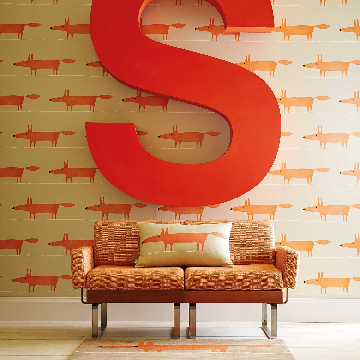 Scion Mr Fox Ginger Wallpaper - Product code: 110847