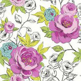 Arthouse Cassi Pink/Teal Wallpaper