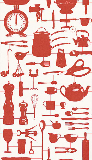 Image of Graduate Collection Wallpapers Airfix Kitchen Red, 32826