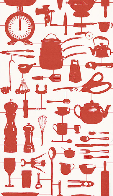 Graduate Collection Airfix Kitchen Red Wallpaper - Product code: 32826