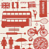 Graduate Collection Airfix London Red Wallpaper