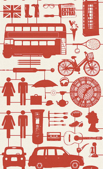 Image of Graduate Collection Wallpapers Airfix London Red, 32828