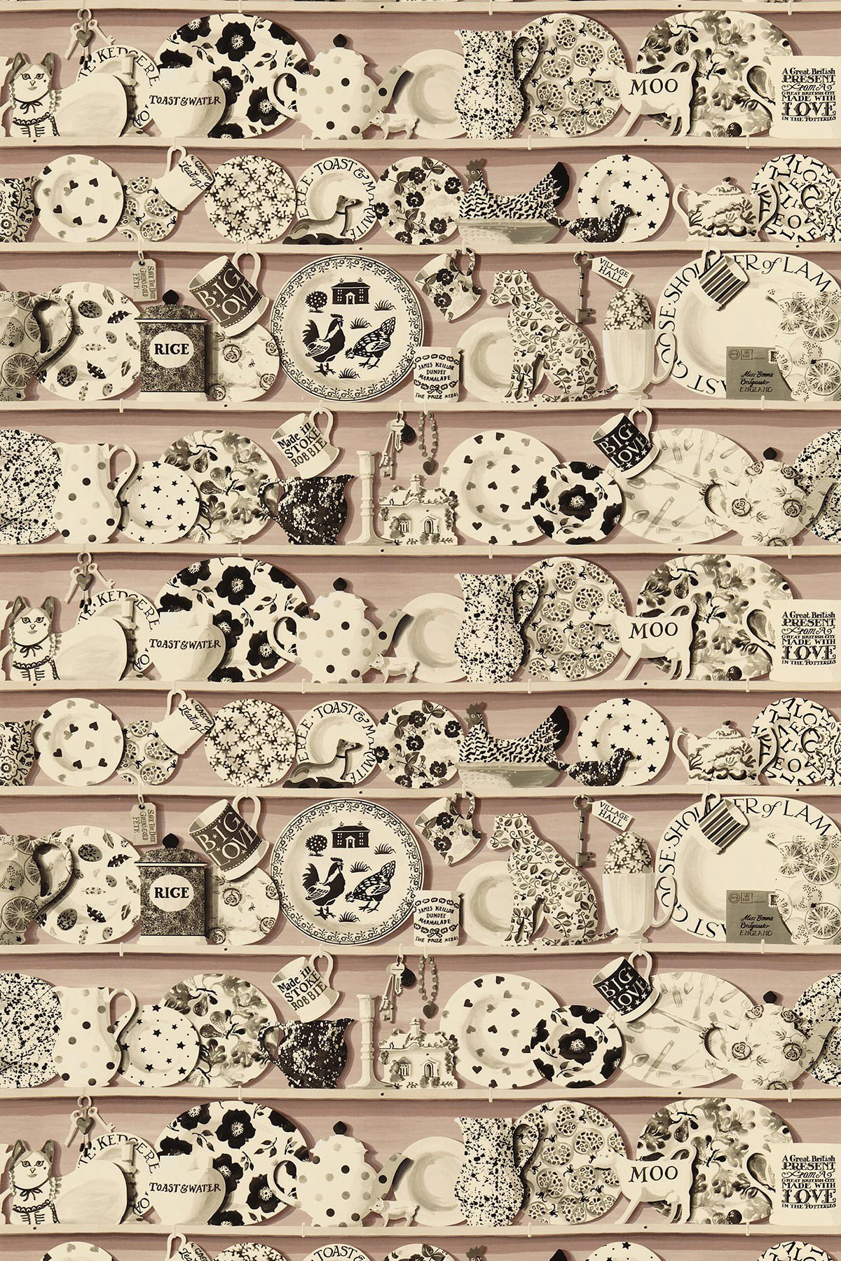 Image of Emma Bridgewater Fabric The Dresser Blush, 223459