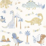 Galerie Tiny Tots Blue / White / Brown Wallpaper