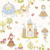Galerie Tiny Tots Multi / White Wallpaper