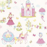 Galerie Tiny Tots Pink / Blue / Yellow / Green Wallpaper