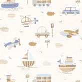 Galerie Tiny Tots Grey / Brown / Blue / Off White Wallpaper - Product code: G45161