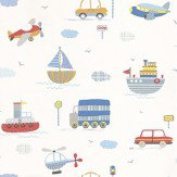 Galerie Tiny Tots Grey / Blue / Red / Off White Wallpaper