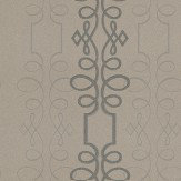 Blendworth Scroll Taupe / Black Wallpaper