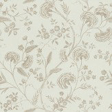 Blendworth Liana Duck Egg Blue / Gold Wallpaper