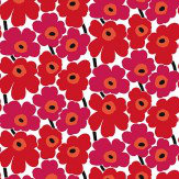 Marimekko Pieni Unikko Red Wallpaper