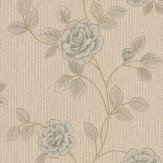 Albany Nicoletta Grey / Blue / Taupe Wallpaper