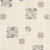 Albany Pebble Silver Metallic Silver / Tan Wallpaper - Product code: 89122