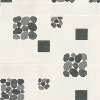 Albany Pebble Black Black / Grey / Off White Wallpaper