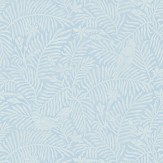 Sanderson Calico Birds  Mineral Blue Wallpaper