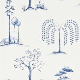 Sanderson Willow Tree  Blue Ivory Wallpaper - Product code: 213724