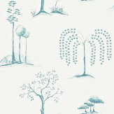 Sanderson Willow Tree Aqua Ivory Wallpaper - Product code: 213725