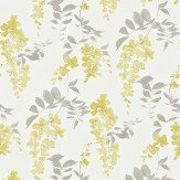 Sanderson Wisteria Blossom  Linden Charcoal Wallpaper