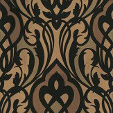 Eijffinger Yasmin Gold Black Gold / Black Wallpaper