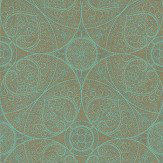 Eijffinger Yasmin Gold Turquoise Metallic Gold / Turquoise Wallpaper - Product code: 341752