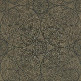 Eijffinger Yasmin Black Gold Metallic Gold / Black Wallpaper - Product code: 341759