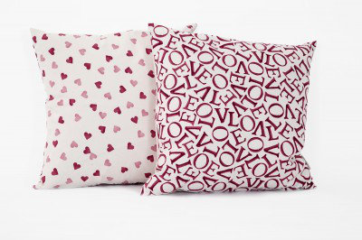 Image of Emma Bridgewater Cushions Love Red Cushion, 10030