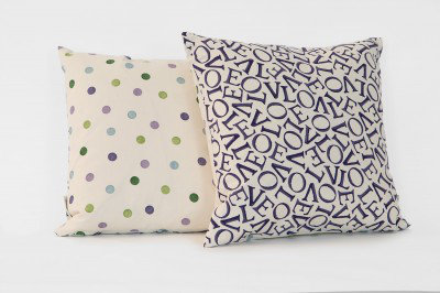 Image of Emma Bridgewater Cushions Love Purple cushion, 10040