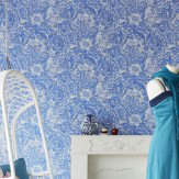 Eijffinger Floral Damask Royal Blue Wallpaper