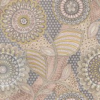 Eijffinger Retro Floral Taupe Pink / Taupe / Grey Wallpaper