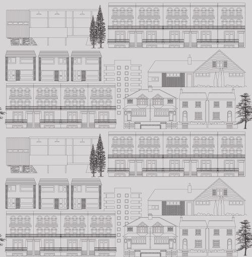 Mini Moderns Do You Live in a Town  Concrete Wallpaper - Product code: AZDPT001 Concrete