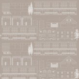 Mini Moderns Do You Live in a Town  Weathered Cedar Wallpaper