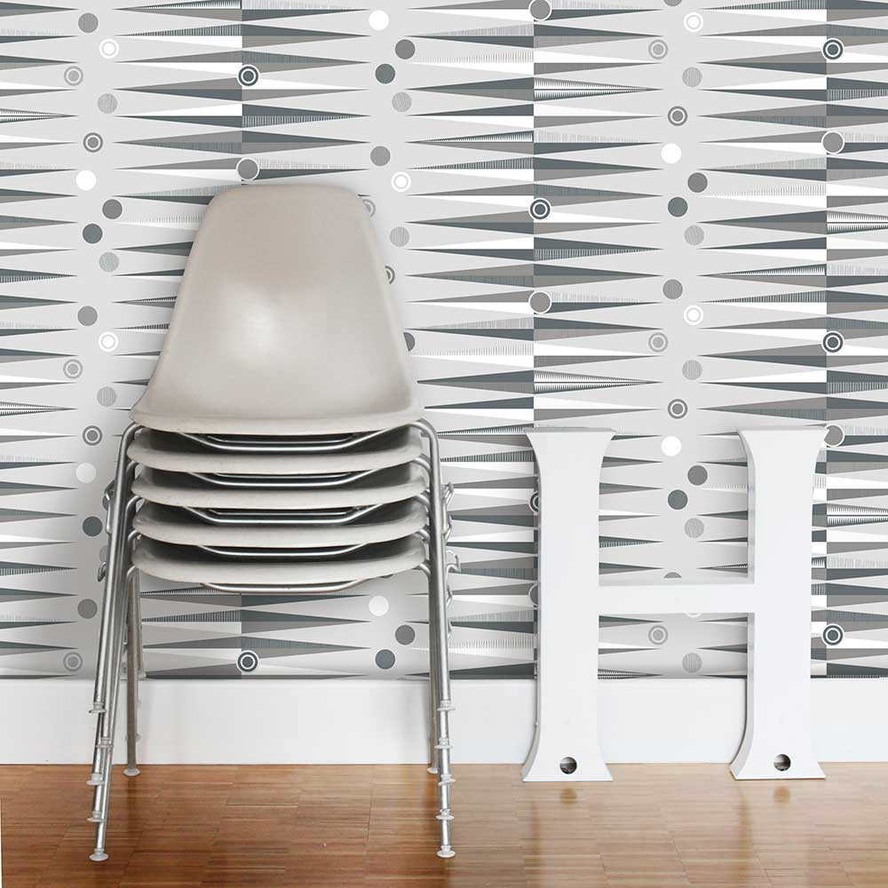 Mini Moderns Backgammon  Concrete Wallpaper - Product code: AZDPT020 Concrete