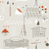Mini Moderns Festival  Stone Wallpaper - Product code: AZDPT014 Stone