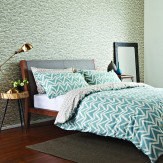 Scion Dhurri Double Duvet Set Aqua Blue Duvet Cover