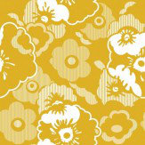 Mini Moderns Alice  Mustard Wallpaper
