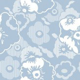Mini Moderns Alice  Powder Blue Wallpaper