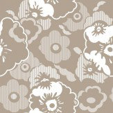 Mini Moderns Alice  Weathered Cedar Wallpaper