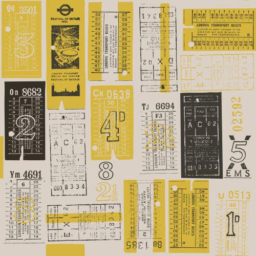 Mini Moderns Hold Tight  Mustard Wallpaper main image