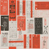 Mini Moderns Hold Tight  Harvest Orange Wallpaper - Product code: AZDPT017 Orange