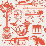 Mini Moderns Pet Sounds  Harvest Orange Wallpaper