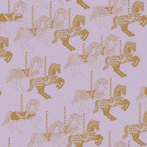 Mini Moderns Fayres Fair  Heather/ Gold Wallpaper - Product code: AZDPT010 Heather