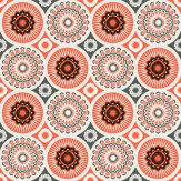 Mini Moderns Darjeeling  Harvest Orange Wallpaper