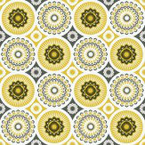 Mini Moderns Darjeeling  Mustard Wallpaper